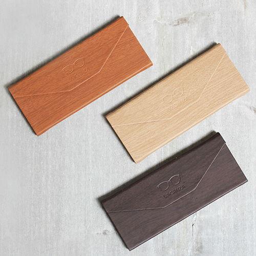 【Vacanza 獨家訂製】三角木紋收納眼鏡盒