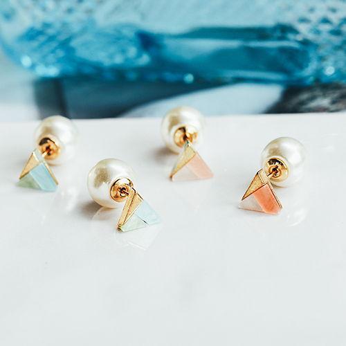 凍感三角冰點.耳環/耳夾