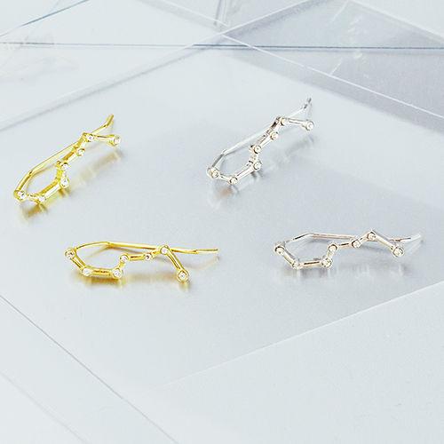 星塵的秘密 單支耳環 (兩用耳針耳夾),兩用,耳針,耳夾,星星,宇宙