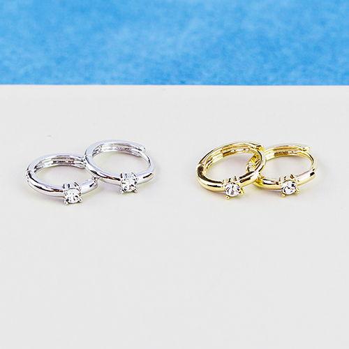 小小單鑽圈.耳環