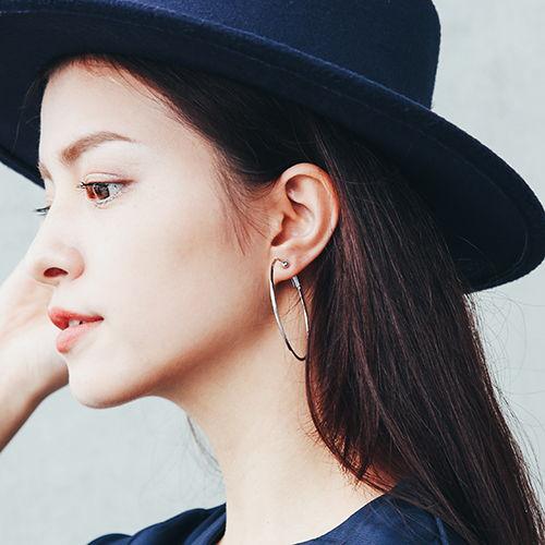 套圈圈 夾式耳環 (小)