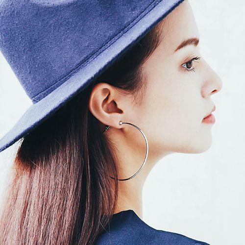 套圈圈 夾式耳環 (大)