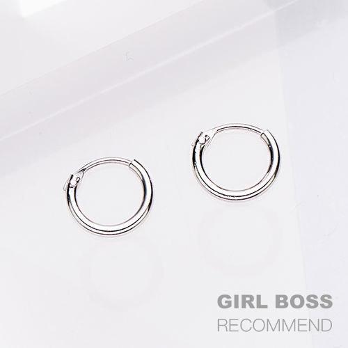 |純銀|Circle 0.8.耳環