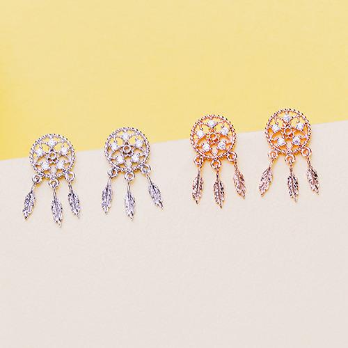 閃耀的捕夢網 耳環