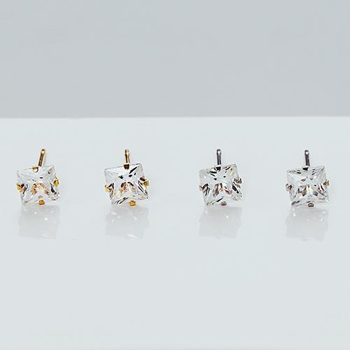 簡約方鑽 純鋼耳環
