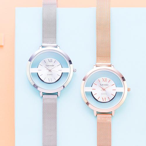 經典縷空金屬圓錶.手錶