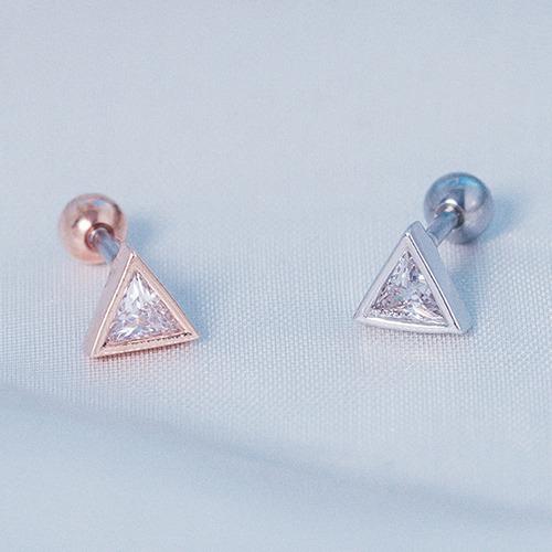 鑽的小三角 單支.耳環