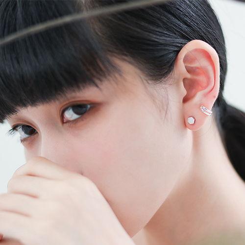 |純銀|雙線圈.單支耳骨夾