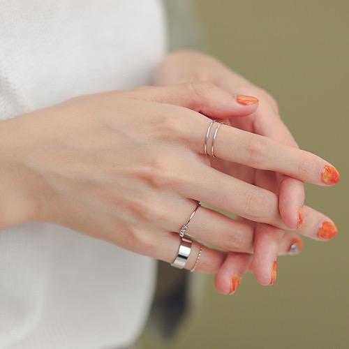 銀領潮流 戒指組合