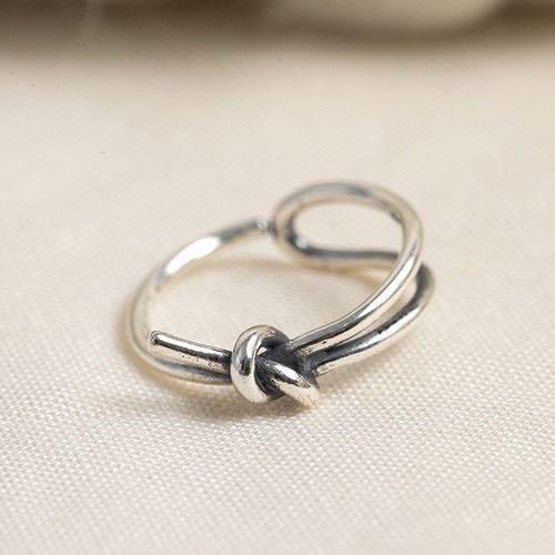 |純銀|打了一個結.戒指