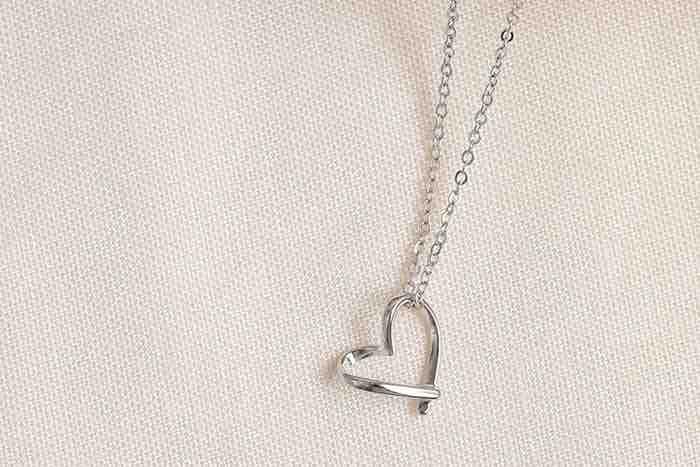 |純銀|簡單愛.鎖骨鍊