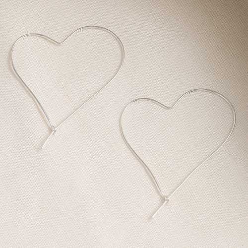 |純銀|Heart Line.銀針耳環