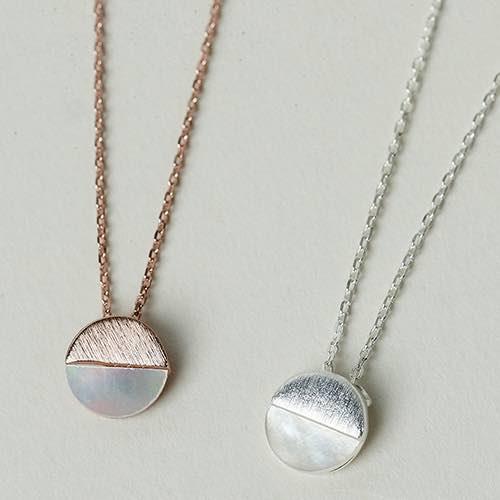 |純銀|片刻成永恆.鎖骨鍊,簡約,玫瑰金,圓,婚禮,結婚