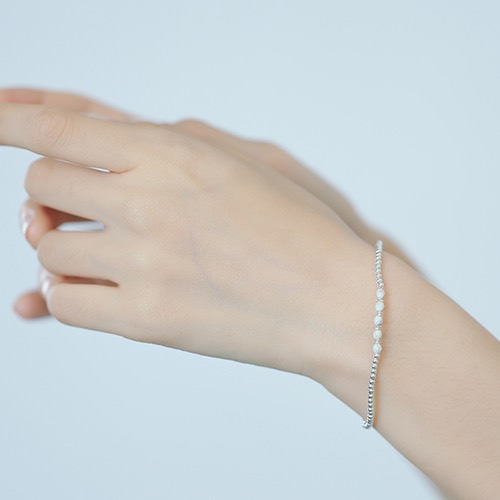 |純銀|漫步在雲端.彈性手環