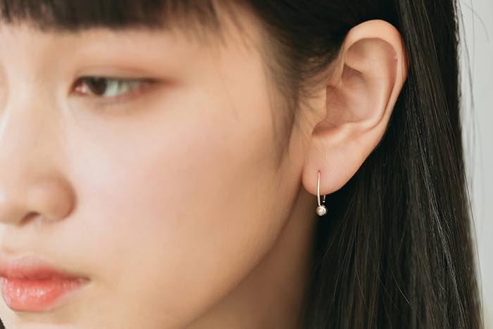 |純銀|簡約小圓珠.耳環