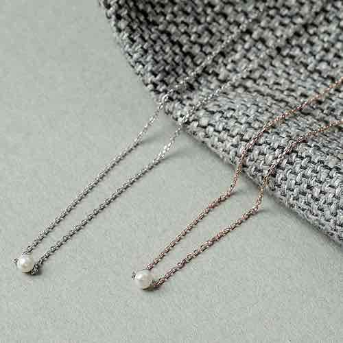 |純銀|天珍浪漫.鎖骨鍊