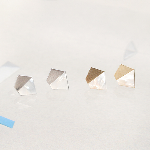 幾何碎片.耳環