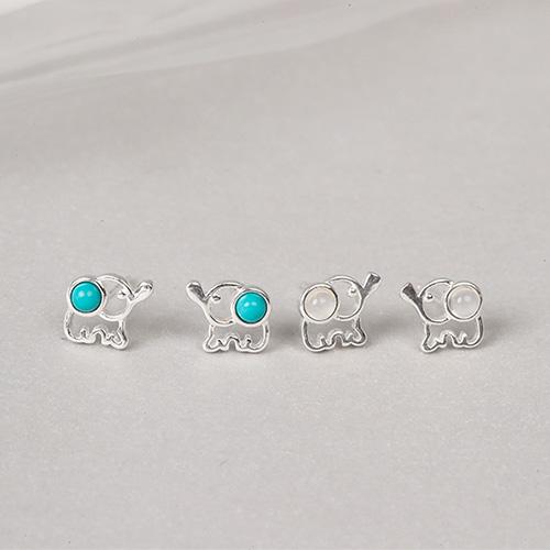  純銀 小象邦邦.耳環