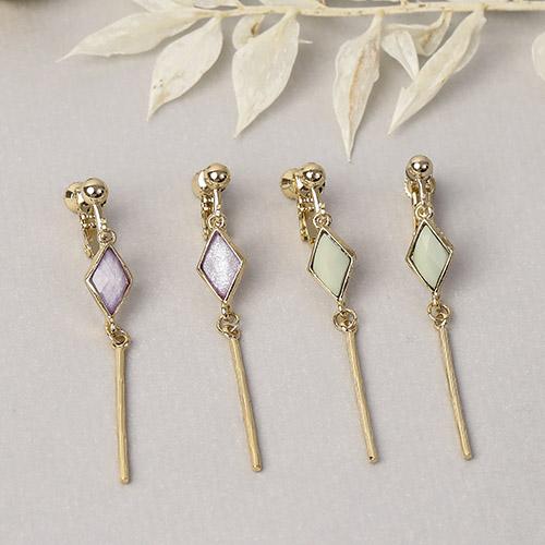 菱鏡魔法棒.耳環/耳夾,金色,婚禮,華麗,,70905043