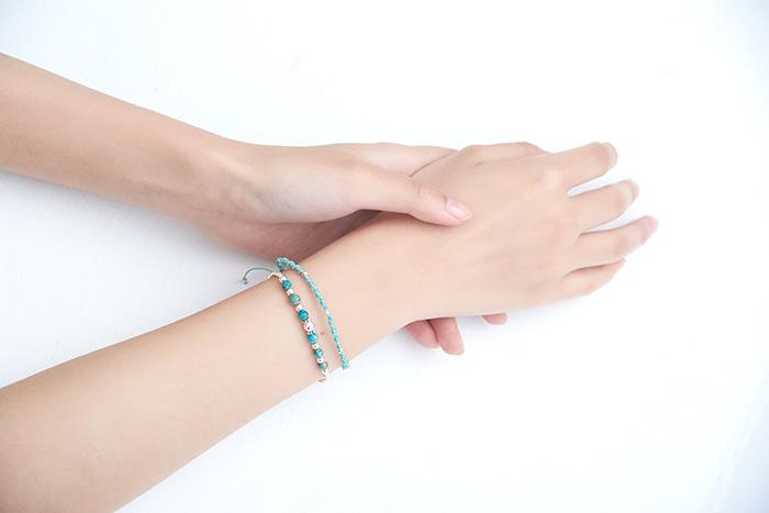 |純銀|編織心願.手環