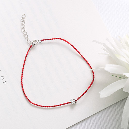 |純銀|心願.手鍊,紅線,月老,緣分,,80515010