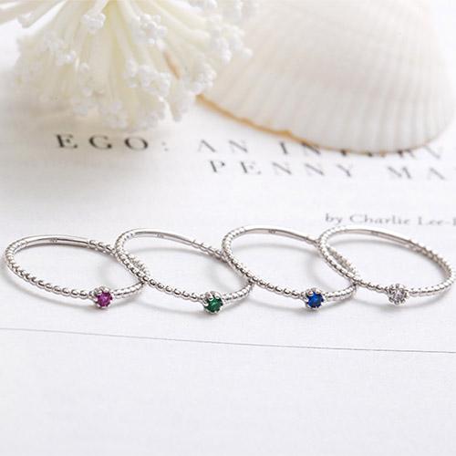 |純銀|紀念品.戒指,繽紛,俏皮,百搭,純銀,紅色