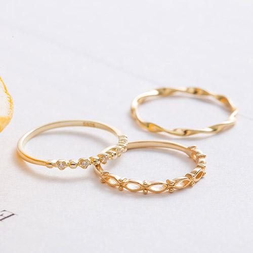 |純銀|三個願望.戒指組合