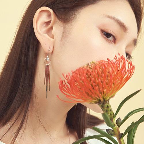 伊絲瑪.耳環/耳夾,鑽石、垂掛、金屬,,70705024,伊絲瑪.耳環/耳夾,