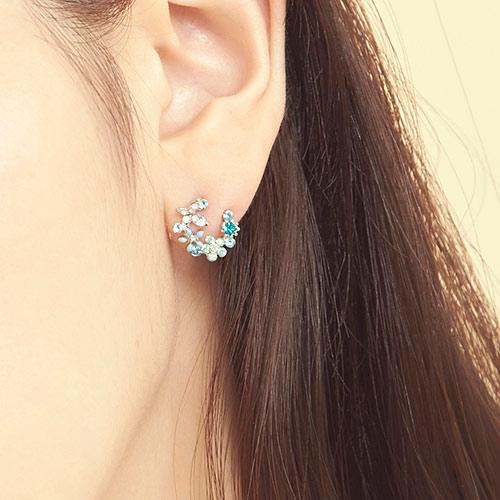 化蝶雙飛.銀針耳環/耳夾