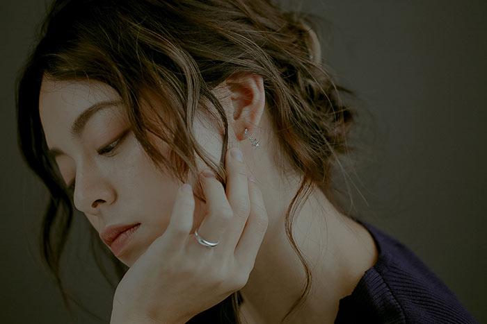 甜蜜心空.銀針耳環/耳夾