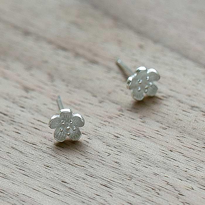 |純銀|花見小路.銀針耳環