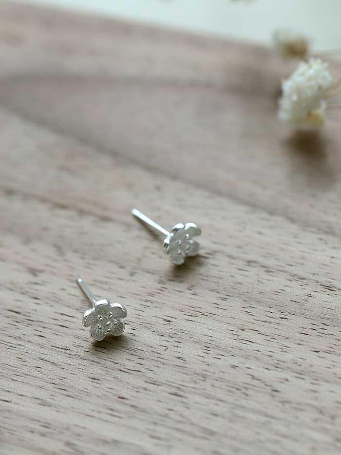  純銀 花見小路.銀針耳環