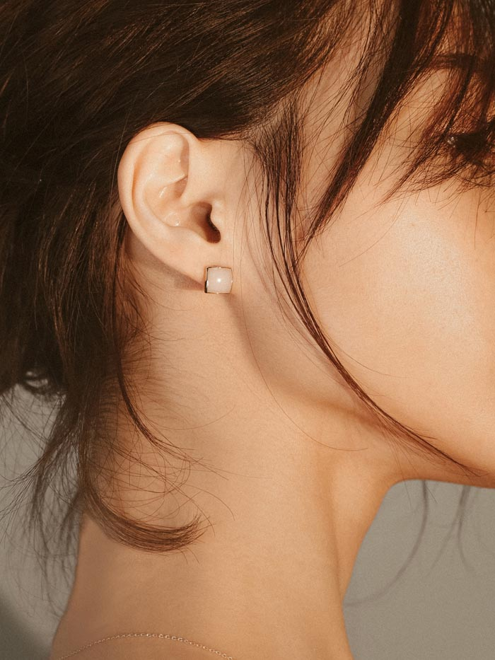 復古方塊.耳環/耳夾