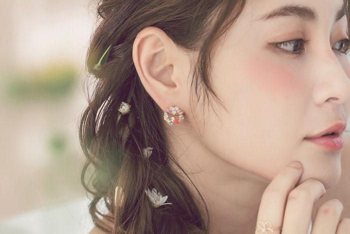 花間鳥語.鋼針耳環/耳夾