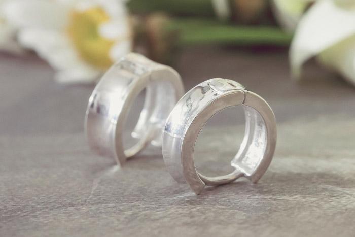 |純銀|圓路.銀針耳環