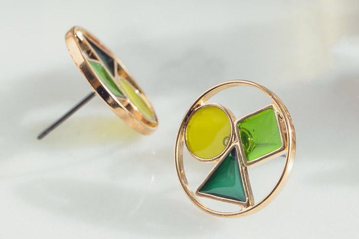 琉璃花.鋼針耳環
