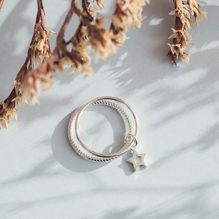 |純銀|星曜.戒指