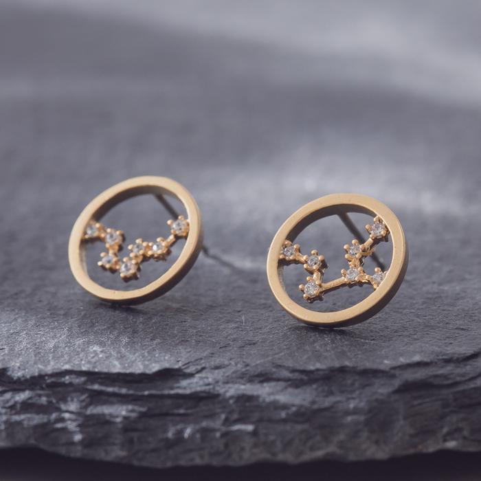 12星座之戀.銀針耳環