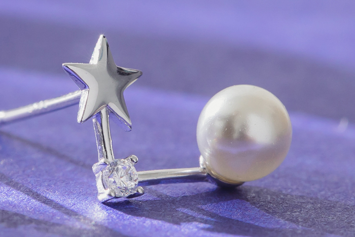 |純銀|星熠.銀針耳環