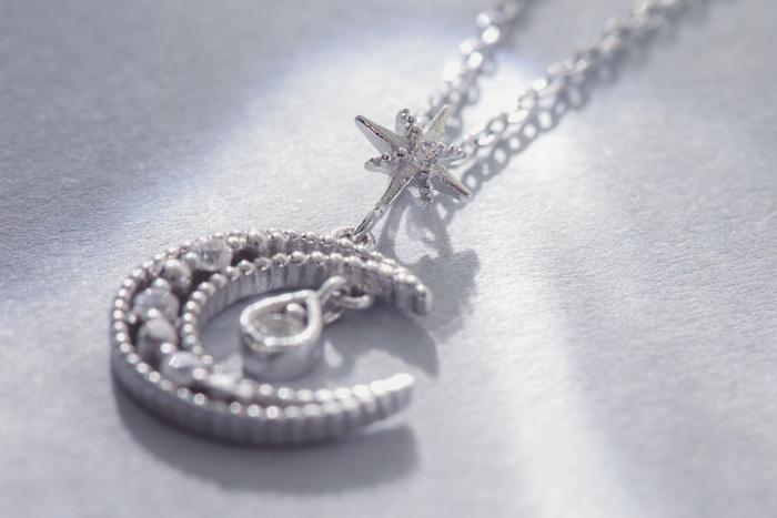  純銀 環星盛放.鎖骨鍊