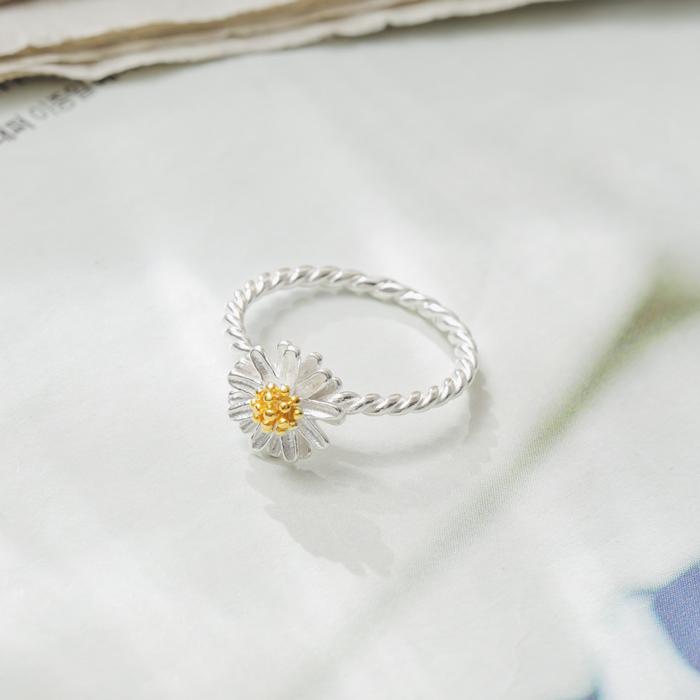 |純銀|春日小雛菊.戒指