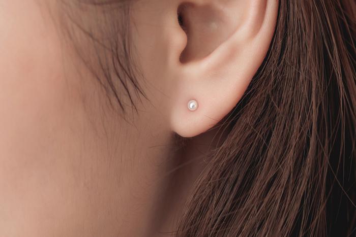 |純銀|點點真心.單支銀針耳環