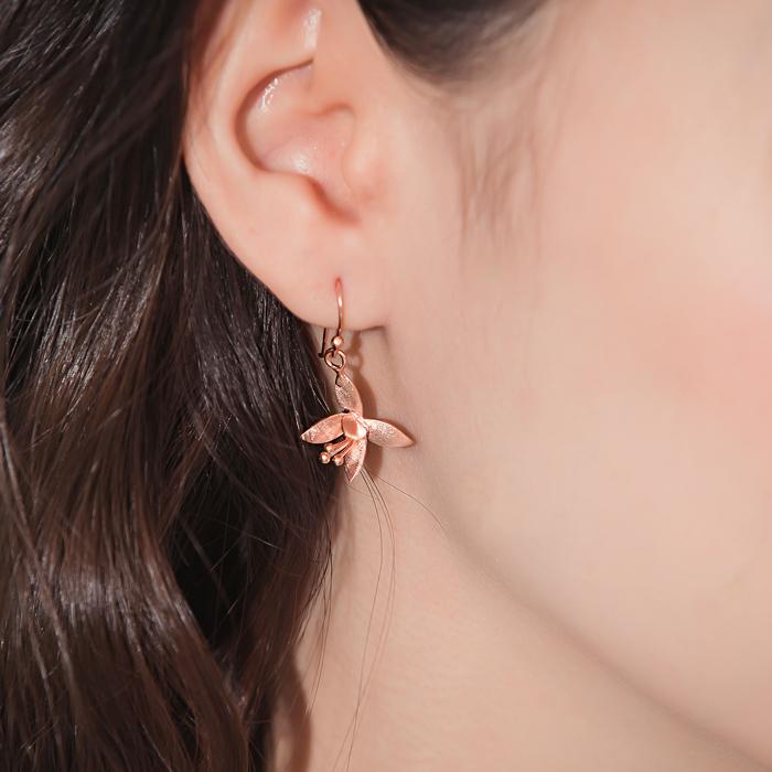 |純銀|花都開好了.銀針耳環