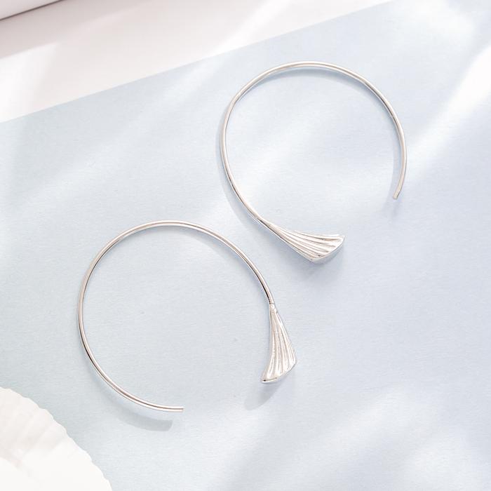 |純銀|美人魚.銀針耳環