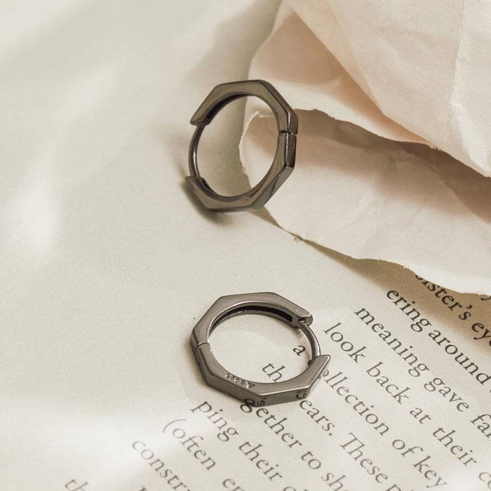 |純銀|沉澱.銀針耳環