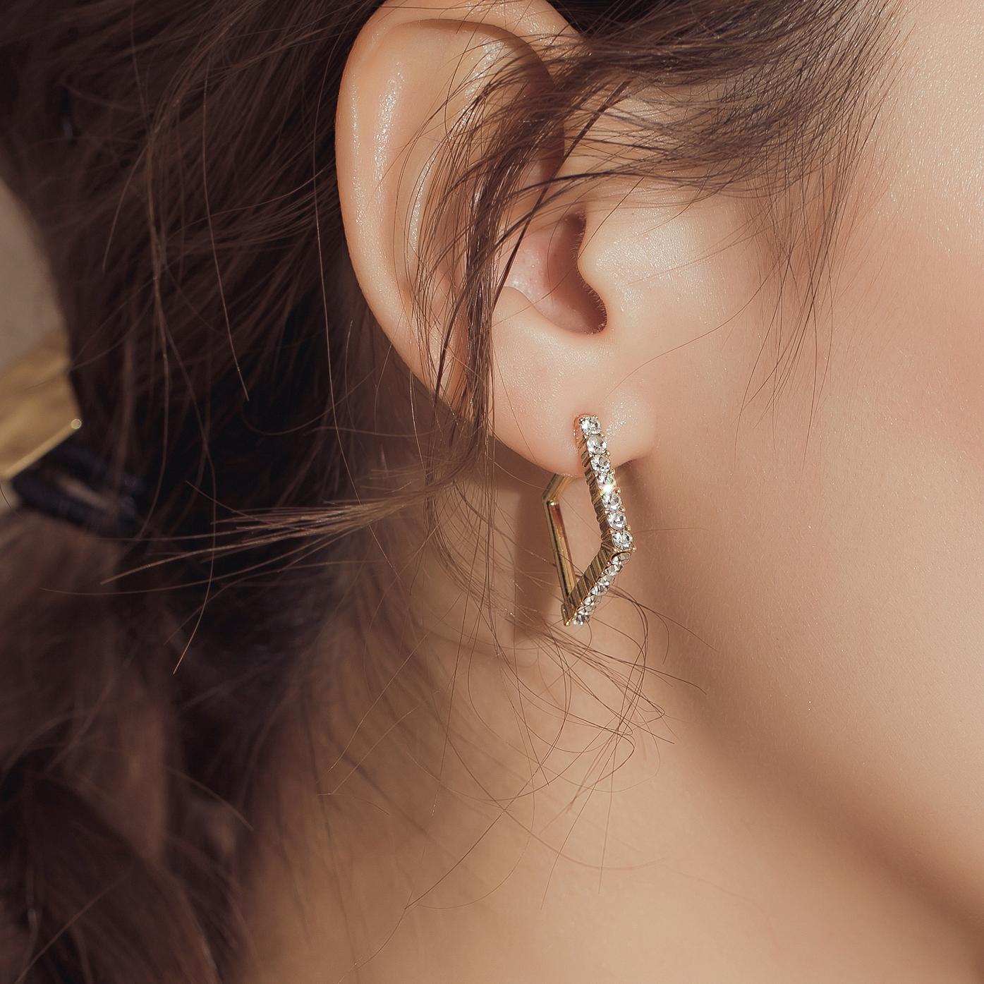 閃耀光輝.鋼針耳環