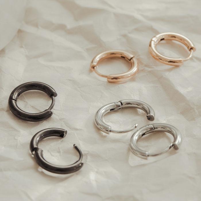 |純鋼|小小魔力圈.鋼針耳環