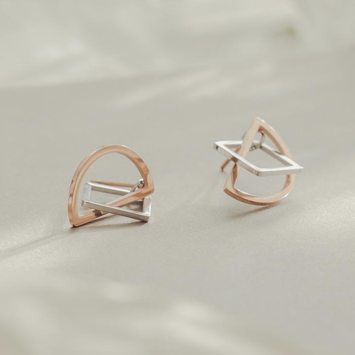 |純鋼|半月奇蹟.鋼針耳環