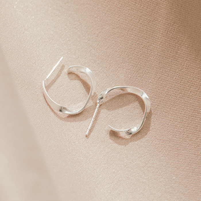 |純銀|靜謐.銀針耳環